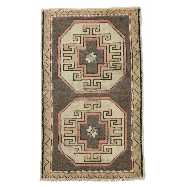 "Vintage Turkish Oushak Runner - 1'8"" x 2'9"" For Sale"