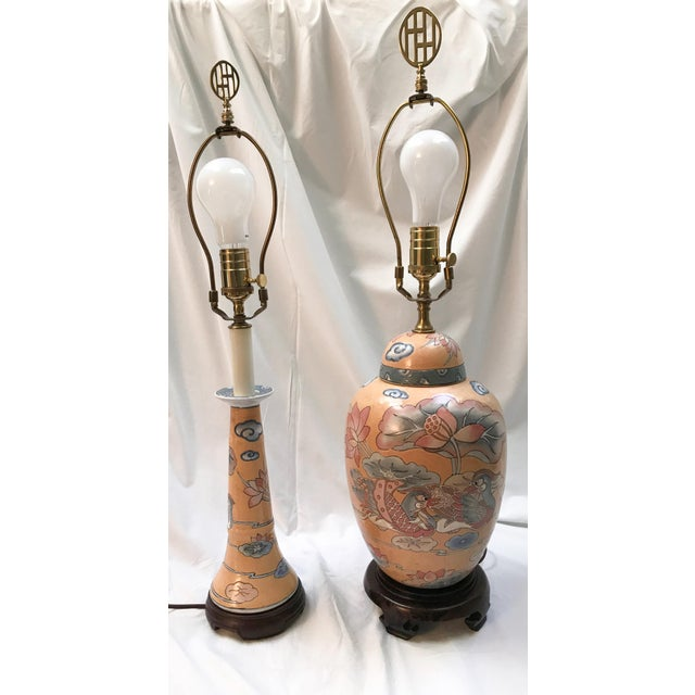 1980s Asian Ginger Jar and Desk Lamps - 2 Pieces For Sale In Richmond - Image 6 of 6