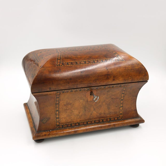 Mid 19th Century Mid 19th Century Vintage English Fully-Fitted Walnut Tea Caddy For Sale - Image 5 of 10