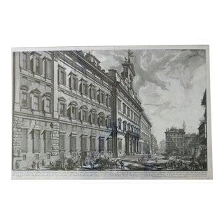 """Mid 18th Century Etching """"Veduta Della Gran Curia Innocenziana"""" by Giovanni Battista For Sale"""