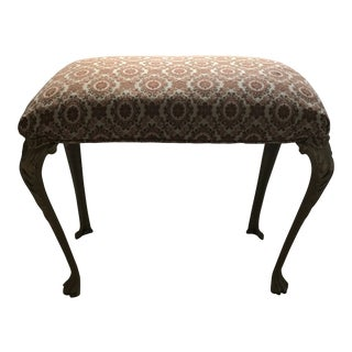 Vintage French Provincial Upholstered Bench