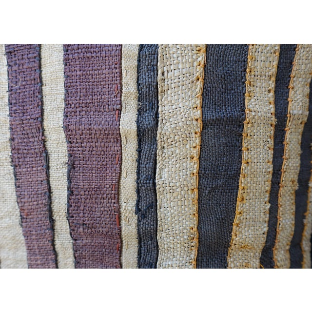 Large Rectangular African Kuba Cloth Pillow For Sale In Los Angeles - Image 6 of 9