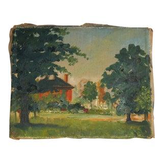 Vintage Landscape Oil Painting on Canvas For Sale