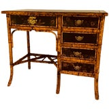 Image of Brass-Mounted Bamboo and Lacquer Desk For Sale