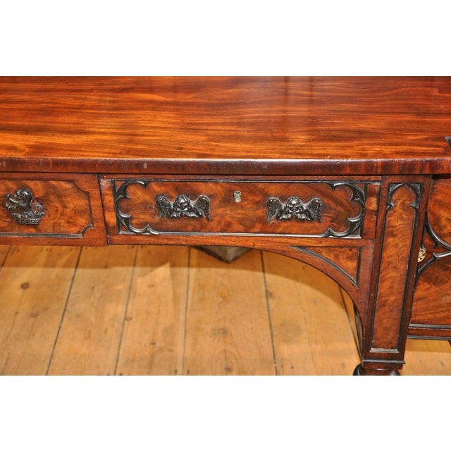 English George III Period Sideboard in Gothic Taste by Gillows of London For Sale - Image 4 of 7