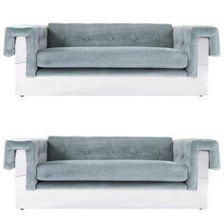 Milo Baughman Pair of Sofas For Sale