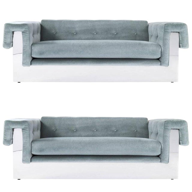 Milo Baughman Pair of Sofas For Sale