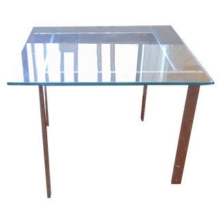 Milo Baughman Glass & Chrome Side Tables - a Pair