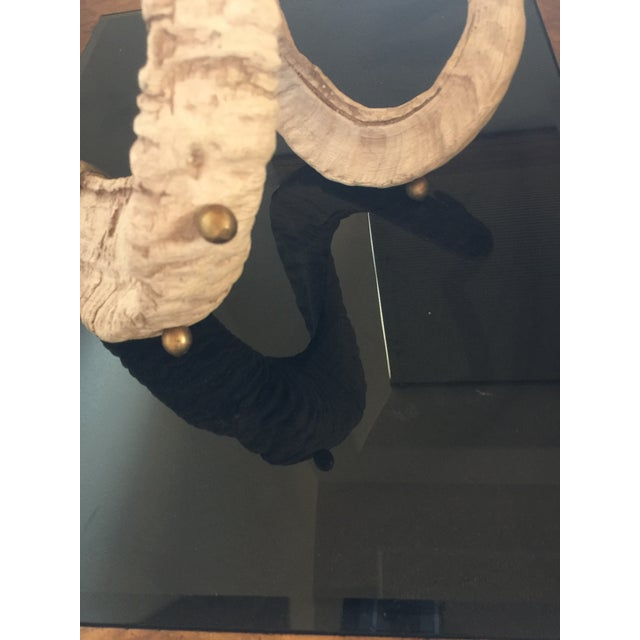 Hart Associates Vintage Hart Associate Rams Horn Candlestick With Antique Brass Details For Sale - Image 4 of 9