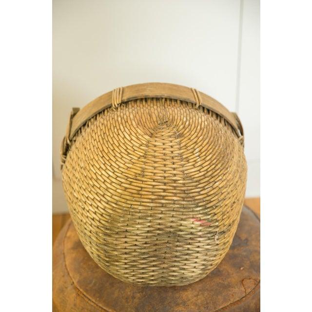 Natural Vintage Willow Basket For Sale - Image 9 of 10