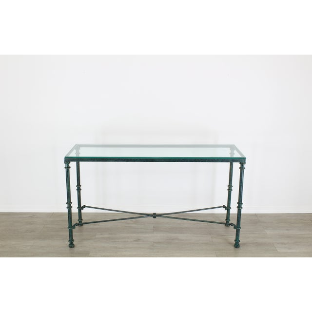 Diego Giacometti Style Iron Console Table, Metal Console Table For Sale - Image 10 of 10