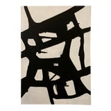 Image of Original Abstract Black & White Painting For Sale