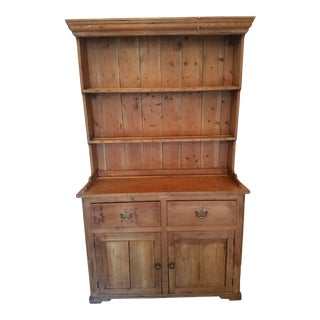 1850 Antique English Pine Dresser For Sale