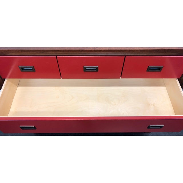 Red Campaign Style Bachelor Chest by Stanley For Sale - Image 8 of 12