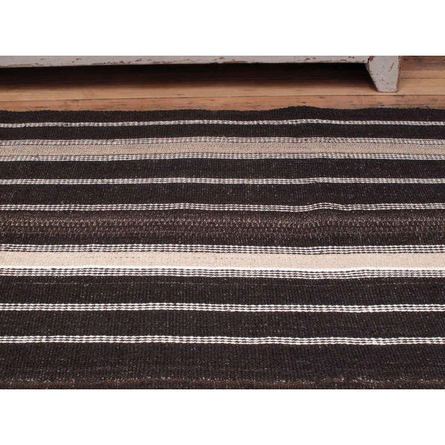 Large Kilim with Vertical Bands For Sale - Image 4 of 7