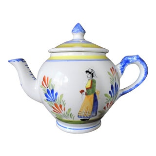 Henriot Quimper French Country Tea Pot For Sale