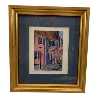 "Late 20th Century Jeanie Drucker ""The Park House"" Charleston, South Carolina Framed Giclee Print For Sale"