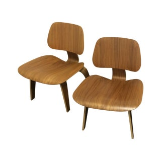 Eames Molded Plywood Lounge Chairs - Set of 4 For Sale