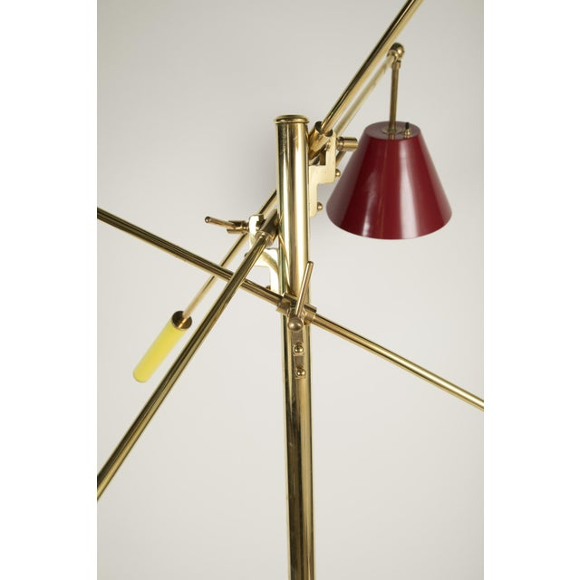Triennale Floor Lamp Attributed to Gino Sarfatti For Sale In New York - Image 6 of 9
