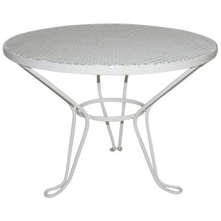 Salterini Round White Patio Side Table For Sale