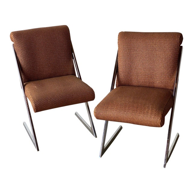 Mid-Century Synthetic Rattan Chairs - A Pair For Sale