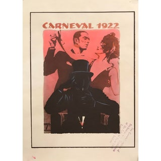 Original 126 German Art Deco Poster, Carneval 1922 For Sale