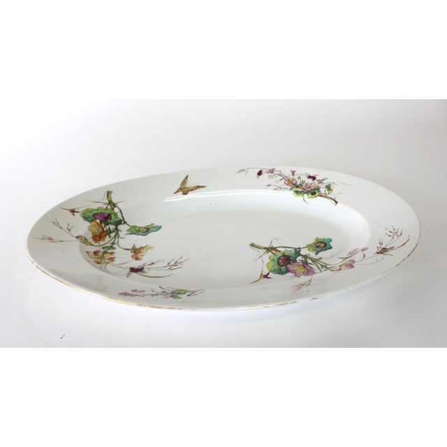 Late 19th Century Limoges Delinieres & Co Porcelain With Floral Design Serving Platter from Late 1800s For Sale - Image 5 of 12