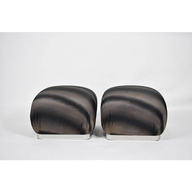 Pair of Souffle Poufs by Weiman - Image 2 of 8