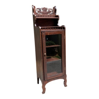 Antique Early American Curio Cabinet For Sale