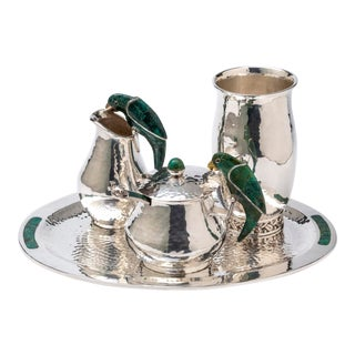 Mid 20th Century Silver Drink Service Set by Emilia Castillo - Set of 4 For Sale