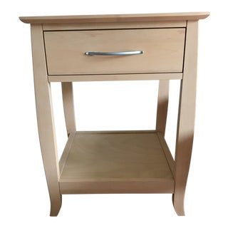 Maple Mid-Century Style Nightstand For Sale