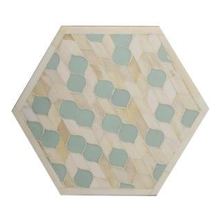 Casa Cosima Orchard Trivet Hexagon in Leaf Vine Pattern For Sale