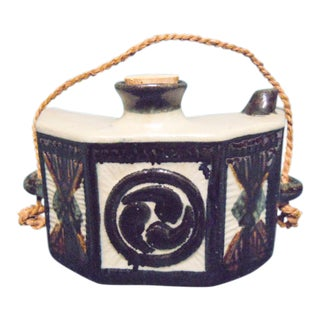 Chinese Hip Flask Pottery Canteen