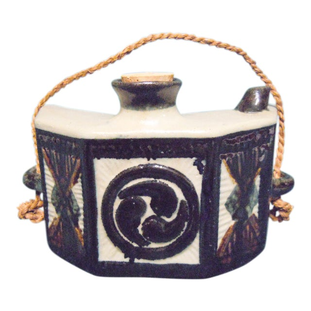 Chinese Hip Flask Pottery Canteen For Sale