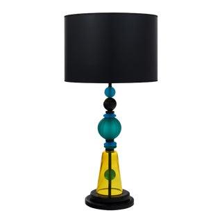 Murano Glass Geometric Lamp For Sale