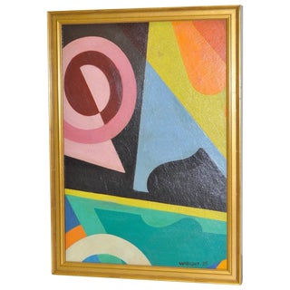 Wright Antique 1930s Abstract Painting For Sale