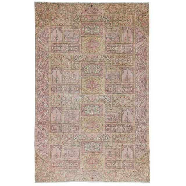 "Vintage Large Turkish Kayseri Rug - 97"" x 150"" For Sale"