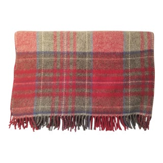 Lanerossi Italian Plaid Wool Blanket
