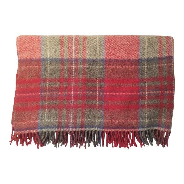 Lanerossi Italian Plaid Wool Blanket - Image 1 of 4