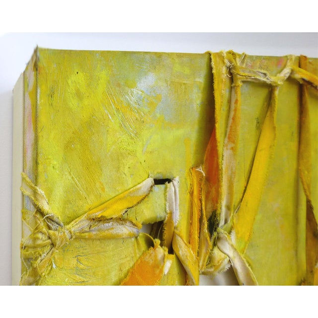 """Alfredo Ulloa """"Pierre (Yellow #1)"""" Abstract Painting - Image 7 of 8"""