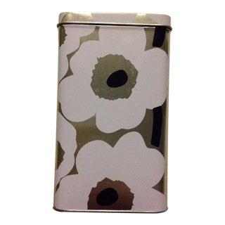 Marimekko White & Silver Unikko Poppy Flower Tin