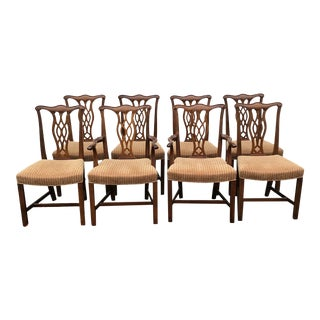 20'th C. Chippendale Dining Chairs Set of 8 For Sale