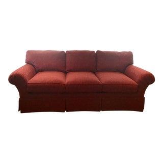 Henredon Red Fireside Sofa