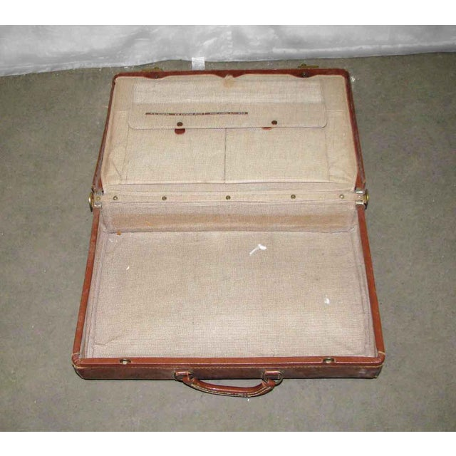 Vintage Leather Gladiator Suitcase - Image 8 of 10