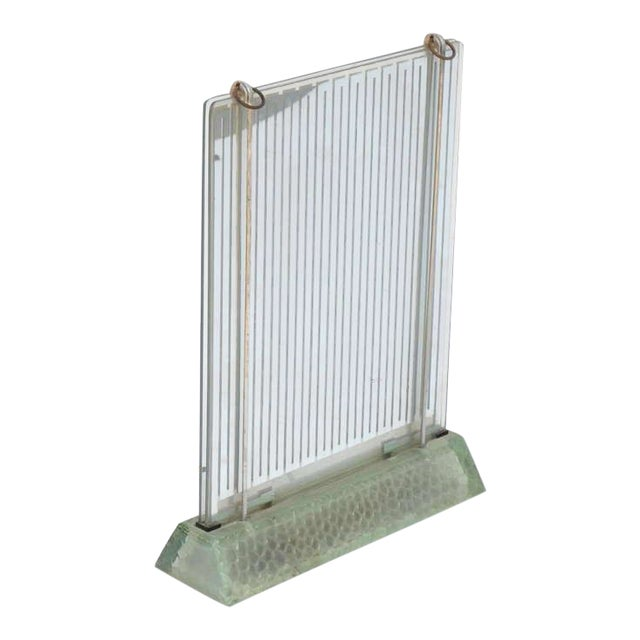 1930s Museum Quality Glass Radiator by René Coulon for Saint-Gobain For Sale