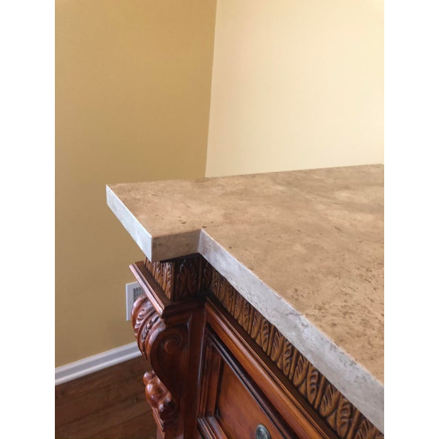 Burnt Umber 1990s Traditional Hickory White Wooden Credenza For Sale - Image 8 of 12