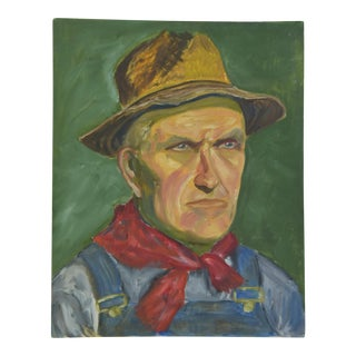 Mid-Century Gentleman W/ Hat Portrait