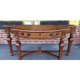 Drexel Heritage Walnut & Elm Dining Room Sideboard Table C1990s Preview