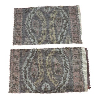 Antique Ottoman Empire Embroidery Tughra Textile Fragments For Sale