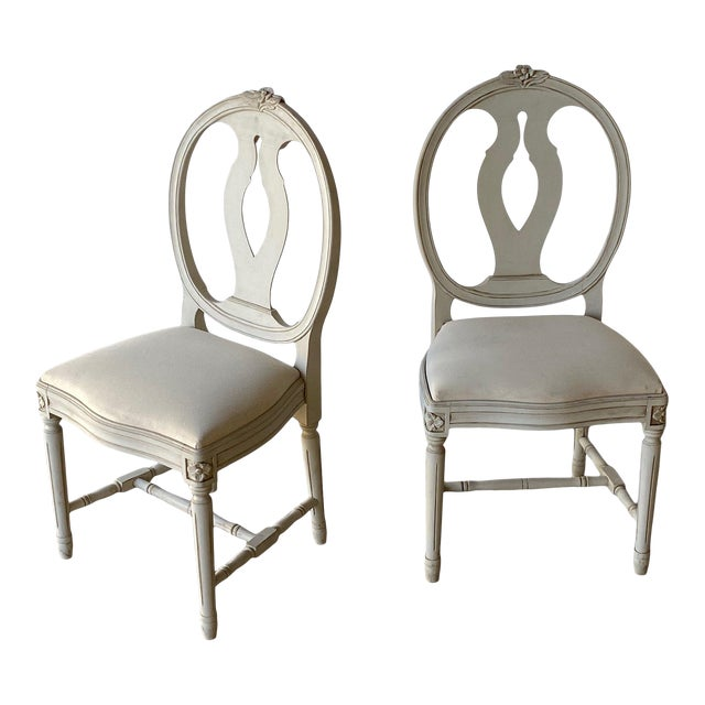 Mid 20th Century Swedish Dining Chairs - A Pair For Sale